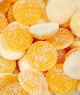 Lunas de naranja sin gluten.