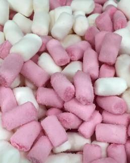 Mini nubes nata-fresa sin gluten.