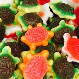 Tortugas multicolor brillo sin gluten.