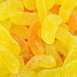 Gajos de naranja y limón sin gluten.